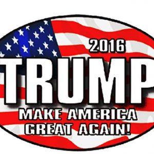 2016 Trump Make America Great Again Bumper Sticker
