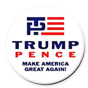 Trump and Pence Make America Great Again 2016. Red