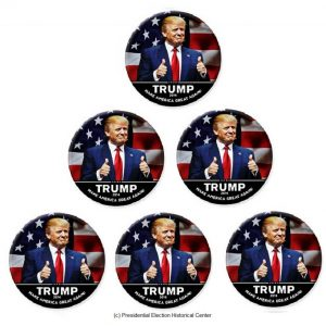 6 Pack Set Campaign Buttons Thumbs Up Donald