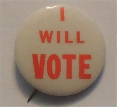 I will voteö (likely 50s or early 60s)
