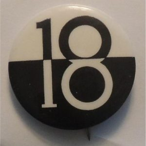 ô18ö b/w (assuming this button refers to the youth suffrage movement)