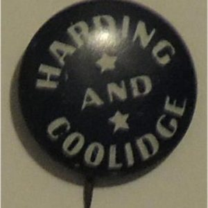 1920 President Warding Harding and Coolidge Campaign button