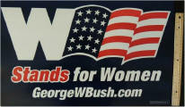 2004 W Stands for Women georgewbush.com