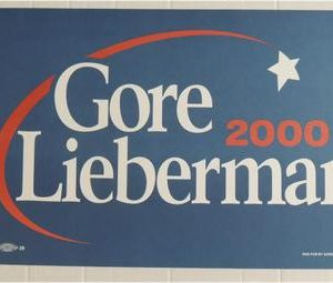1996 Original from the 2000 Presidential campaign of Al Gore and Joe Lieberman. (Mint condition / like new)