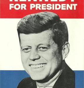 1960 Original 1960 JFK John F. Kennedy Democratic Presidential Campaign Poster NR