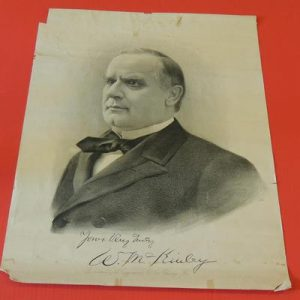 Magnificent Original 1897 William McKinley Lithograph Print Poster