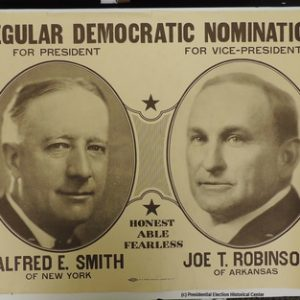 Alfred E. Smith Joe T. Robinson Campaign Poster