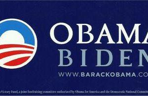 2012 Original Obama Biden www.barackobama.com bumper sticker