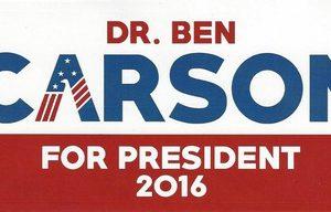Dr. Ben Carson For President 2016 bumper stickers