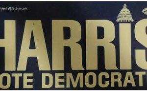 1976 Official 1976 Harris Voted Democrat Campaign Bumper Sticker - Great Condition as shown