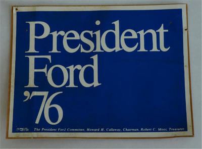 Blue 1976 President Ford 76 Red Bumper Sticker rectangle version -  The President Ford Committee
