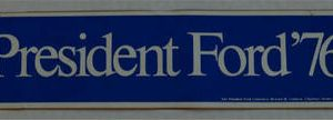 Blue1976 President Ford 76 Red Bumper Sticker Narrow version -  Paid for the the President Ford Committee