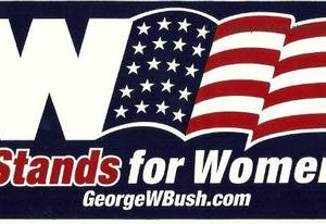 W Stands for Women georgewbush.com