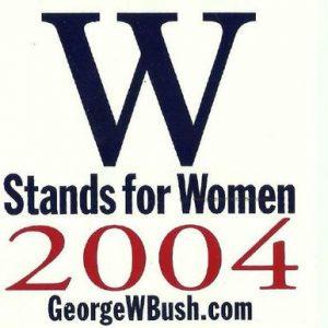 W Stands for Women 2004 georgewbush.com