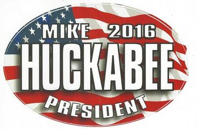 Mike 2016 Huckabee President  patriotic campaign bumper sticker