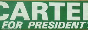 1976 Official for President Bumper Sticker Democratic Presidential Campaign 1976.  Excellent condition