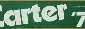 1976 Official Carter 76 Bumper Sticker.  Excellent condition