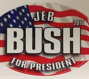 Jeb Bush For President 2016 patriotic campaign bumper sticker
