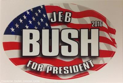 Jeb Bush For President 2016 patriotic campaign bumper sticker