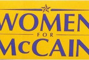 Women for McCain 2008 Yellow Bumper Sticker