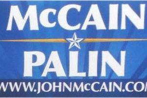McCain Palin ww.johnmccain.com Bumper Sticker. Excellent Condition