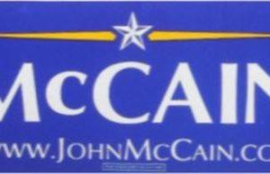 McCain 2008 Blue Bumper Sticker. Excellent Condition