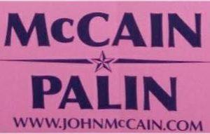 McCain Palin 2008 Bumper Sticker. Excellent Condition