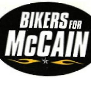 Bikers for McCain 2008 Bumper Sticker. Excellent Condition