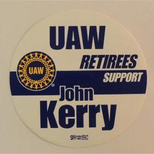 UAW Tetirees Support John Kerry Bumper Sticker