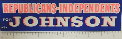 Republicans-Independents for Johnson Bumper sticker