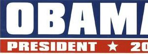 Obama President 2012 Bumper Sticker Union Made