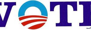 Barack Obama Vote Bumper Sticker