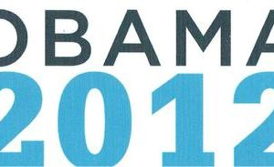 Obama President 2012  white background Bumper Sticker