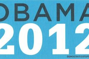 Obama President 2012 blue background Bumper Sticker