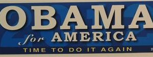 Obama For America - Time to Do It Again Bumper Sticker