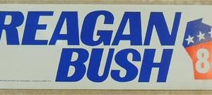 Original Reagan Bush 84 Bumper Sticker