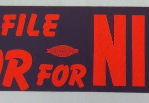 Richard Nixon Rank and File Labor for Nixon bumper sticker