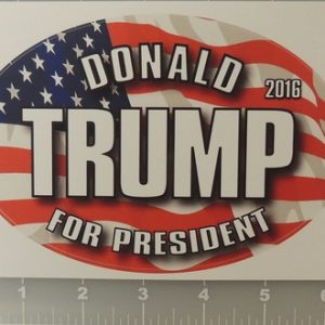 Donald Trump 2016 For President 2016 patriotic sticker