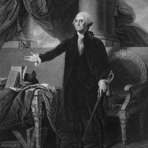 George Washington - 1st president of the United States glossy print
