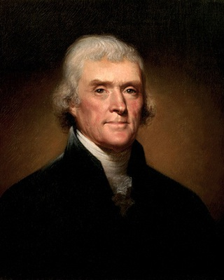 Thomas Jefferson 3rd President  glossy print
