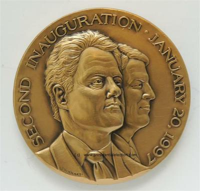1997 Bill Clinton 42nd President of the United States Official Inaugural Medal