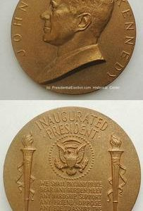 1961 John F. Kennedy (JFK) Official Inaugural Medal (Good Condition)