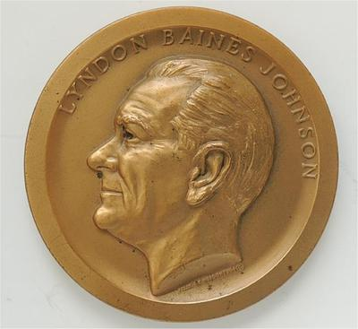 1965 Lyndon (B) Baines Johnson Official Inaugural Medal
