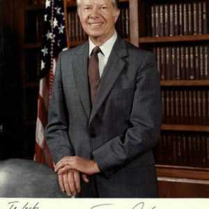 Jimmy Carter (1924- ) 39th President. 8ö x 10ö color photograph signed in the lower margin