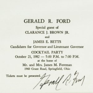 President Gerald Ford Authentic Signature with Certificate of Authenticity