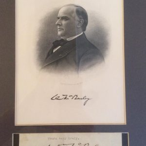 Yours very truly authentic William McKinley signature