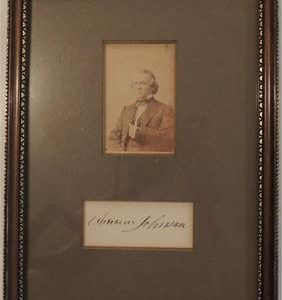Andrew Johnson with real photo from the day - signed