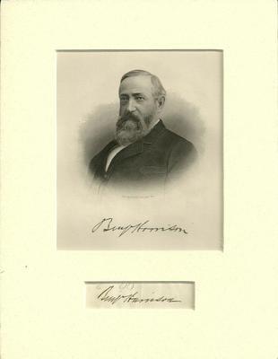 1891 Benjamin Harrison signed