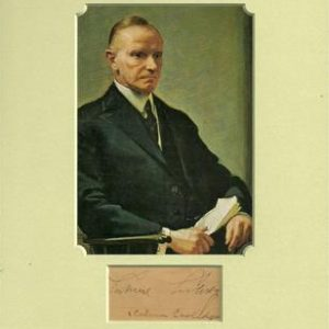 President John Calvin Coolidge Signature with Lifetime Certificate of Authenticity