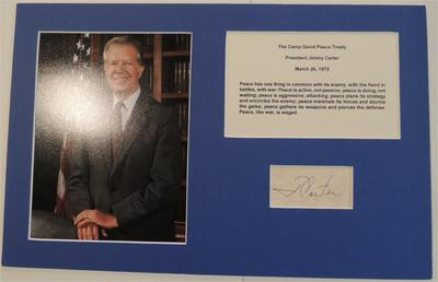 President JIMMY CARTER - Photo Signed - Authentic Signature